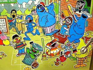 SESAME STREET Colorforms Big Bird 1986 Herry Monster & Sherlock Hemlock OG