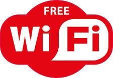 Free WIFI RED Pub Cafe Bar Hotel Area Zone Sticker 200x140mm