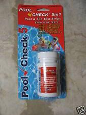 5 in 1 Pool Spa Water Test strips 481339 Chlorine Bromine 50ct 5 way