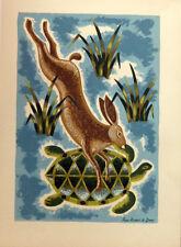 PICART LE DOUX Jean Lithographie pour Illustré un Livre Signée dans la Planche