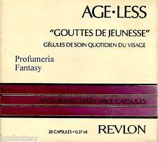 """REVLON AGE LESS """"GOUTTES DE JEUNESSE"""" 28 CAPSULE ML.0,37 ANTI-AGING"""
