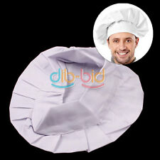 Elastic White Chef Hat Baker BBQ Kitchen Cooking Hat Costume Cap One Size ED 33