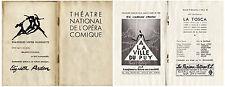 Programme du Théâtre National de L'Opéra Comique - La Tosca - 3 Décembre 1938