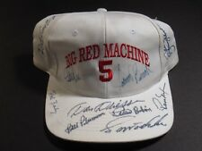 BIG RED MACHINE BENCH PEREZ CONCEPCION DRIESSEN MULTI SIGNED AUTOGRAPH HAT PSA