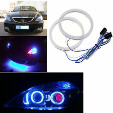 2X80mm LED COB Angel Eye Ring Car Waterproof Blue light for TATA