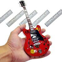 Mini Guitar scale 1:4 Alvin Lee 335 Woosdtock '69 miniature gadget collectible