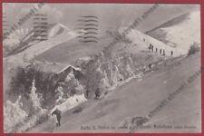 COMO BRUNATE 168 BAITA SAN PIETRO Monte BOLLETTONE - SCI Cartolina viagg. 1943