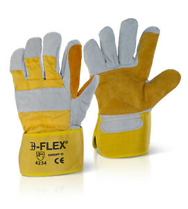 B-Flex Double Palm Heavy Duty Rigger Style Glove (Pack Of 60) - Candpp