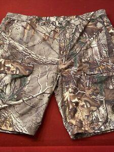 HABIT RealTree Xtra CAMO Lightweight Polyester Cargo Shorts Men's XL EUC