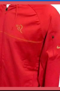 Nike 10R Ronaldinho Hoodie Zip-Up Mens Training Jacket Red Hooded Track Suit Top
