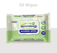 Germisept Multi-Purpose Alcohol Wipes with Aloe Vera %75 Plant Base 6 Pack Of 50