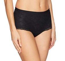 Leonisa Women's Fabulous Lace Hip Hugger Control Panty Panties, Black, Sz Small