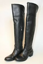 Vince Camuto Womens Size 7 M 37 Baldwin Leather Zip Over The Knee Heeled Boots