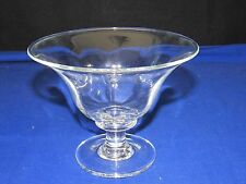 "Simon Pearce Signed Compote-Pedestal Dish,6"" Footed,Hand Blown Studio Glass Bowl"