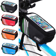 Cycling Bicycle Bike Pannier Frame Top Front Tube Bag Case Phone Pouch Holder