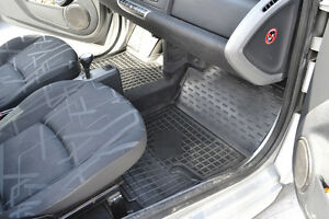 Rubber Carmats for Smart Fortwo 451 2007-2012 All Weather Tailored Floor Mats