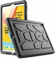 Apple iPad 10.2 (2019) Tablet Case Poetic Soft Silicone Protective Cover Black