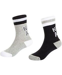 New Jordan Nike Little & Big Boys 2-Pack Air Logo Crew Socks Size 7C-10C
