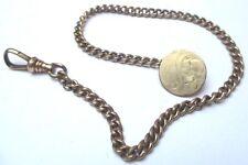 chaîne de montre châtelaine ancienne rétro maille gourmette mousqueton  3292