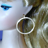 Barbie Dreamz LARGE HOOPS SILVER Hoop MOD Earrings Doll Jewelry