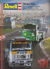 REVELL modello in plastica Aerei Navi e kit di veicoli 1991 GAMMA DI PRODOTTI CATALOGO