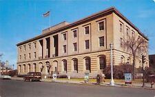 Waterloo Iowa~US Post Office~Recruiter Posters~SUV Wagon~Postcard 1950s