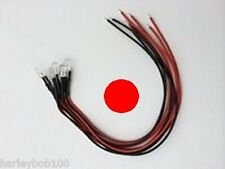 Pack of 5 Flickering Red LEDs 12v DC Prewired