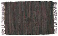 2' x 3' Country Rag Throw Rugs in Tobacco Brown, 100% Cotton, Hand Woven