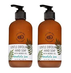Bath & Body Works Honolulu Sun Gentle Exfoliating Hand Soap with Monoi Oil x2