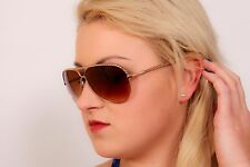 70s vintage style brown & gold aviator sunglasses