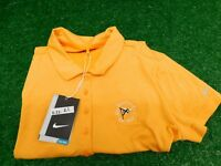 Nike Golf Womens Dri-Fit Short Sleeve Orange Shirt Large CC Logo Ladies New NWT