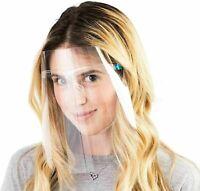 Full Face Shield Visor Covering Protection Mask Safety Clear Glasses Anti-fog UK