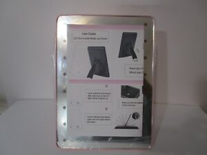 16LED Touch Screen Adjustable Tabletop, Cosmetic Vanity Makeup Mirror, Pink,NOB!