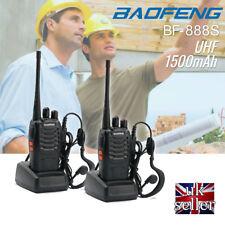 2Pcs Baofeng BF-888S UHF 400-470MHz Handheld Two-way Ham Radio Walkie Talkie UK