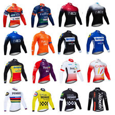 Mens Cycling Jersey Long Sleeve Breathable Jacket Tops Bike Bicycle Shirt Cool