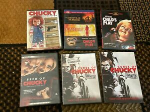 Childs Play Chucky Horror DVD Lot Collection Movies Amityville Horror, Carrie