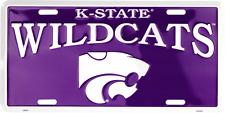 Kansas State Wildcats License Plate Sign Metal Tag Truck Car Auto FAST SHIPPING