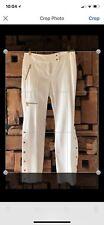 MICHAEL KORS Women's White Flared Pants Size 8