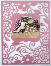 Cool Chick Carte Topper Pour Fabrication Carte-Anniversaire-avec Résine Embellissement