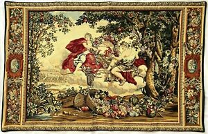 HIGH QUALITY LINED BELGIAN TAPESTRY WALL HANGING, BACCHUS, 109CM X 69CM, 00276