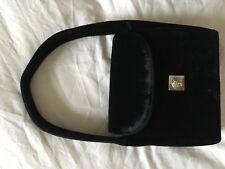 Vintage Gianni Versace Mainline Black Velvet Handbag