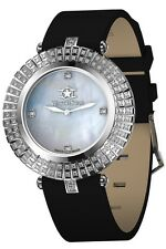 New Big Watchstar Lady Star Swiss Made Diamond White Perl Dial Spphire watch
