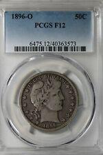 1896 O 50C PCGS F 12          Barber Half Dollar, Liberty Head Half, 50 Cents