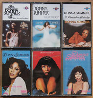 6x DONNA SUMMER ORIGINAL UK CASSETTE TAPES 1970s DISCO GIORGIO MORODER