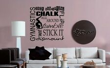 GYMNASTICS Vinyl Wall Art Decal Decor Lettering Words Quote Teen Room Sports