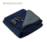 iHealthComfort Electric Heated Car Blanket with Intelligent Temp Time Control
