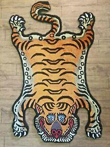 Tibetan Mini silk Tiger skin Rug