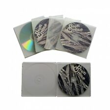 ProfiOffice 25 CD DVD Hüllen transparent Slim Case Leerhüllen für je 1 Cd/dvd