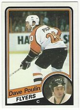 1984-85 TOPPS HOCKEY #120 DAVE POULIN ROOKIE - NEAR MINT-