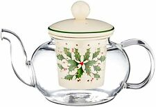 Lenox HOLIDAY TEA FOR ONE Teapot with Infuser Set NEW IN BOX Christmas